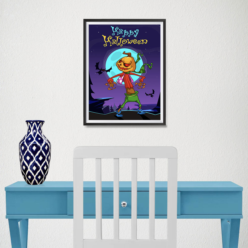 Ezposterprints - The Pumpkin Gone Crazy 2 Halloween Poster - 12x16 ambiance display photo sample