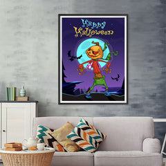 Ezposterprints - The Pumpkin Gone Crazy 2 Halloween Poster - 36x48 ambiance display photo sample