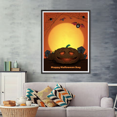 Ezposterprints - The Pumpkin 2 Halloween Poster - 36x48 ambiance display photo sample