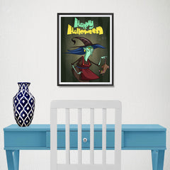 Ezposterprints - Scary Old Witch Halloween Poster - 12x16 ambiance display photo sample