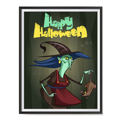 Ezposterprints - Scary Old Witch Halloween Poster ambiance display photo sample