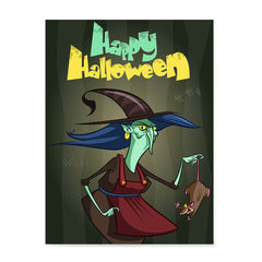 Ezposterprints - Scary Old Witch Halloween Poster