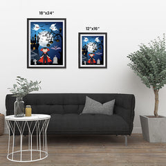 Ezposterprints - Young Dracula Halloween Poster ambiance display photo sample