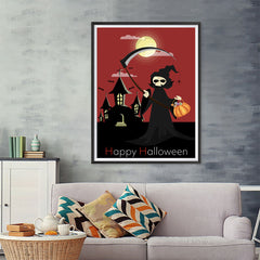 Ezposterprints - The Reaper With Treats Halloween Poster - 36x48 ambiance display photo sample