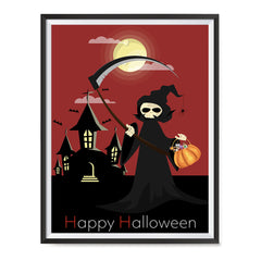 Ezposterprints - The Reaper With Treats Halloween Poster ambiance display photo sample