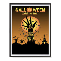 Ezposterprints - Unleash The Demon Party Halloween Poster ambiance display photo sample