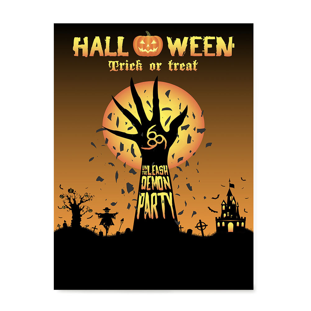 Ezposterprints - Unleash The Demon Party Halloween Poster