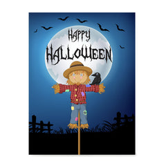 Ezposterprints - Scarecrow at Night Halloween Poster