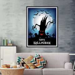 Ezposterprints - The Psycho Tree Halloween Poster - 36x48 ambiance display photo sample