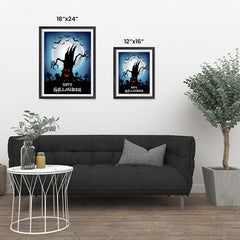 Ezposterprints - The Psycho Tree Halloween Poster ambiance display photo sample