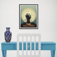 Ezposterprints - The Grunge Gothic Hand Halloween Poster - 12x16 ambiance display photo sample