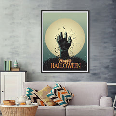 Ezposterprints - The Grunge Gothic Hand Halloween Poster - 36x48 ambiance display photo sample