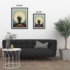 Ezposterprints - The Grunge Gothic Hand Halloween Poster ambiance display photo sample