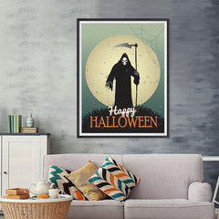 Ezposterprints - The Grunge Gothic Reaper Halloween Poster - 36x48 ambiance display photo sample