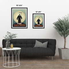 Ezposterprints - The Grunge Gothic Reaper Halloween Poster ambiance display photo sample