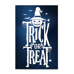 Ezposterprints - Trick Or Treat - Blue Halloween Poster ambiance display photo sample