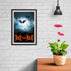 Ezposterprints - Moonligth - Orange Halloween Poster - 08x12 ambiance display photo sample