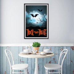 Ezposterprints - Moonligth - Orange Halloween Poster - 12x18 ambiance display photo sample