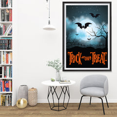 Ezposterprints - Moonligth - Orange Halloween Poster - 32x48 ambiance display photo sample