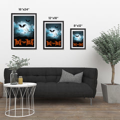 Ezposterprints - Moonligth - Orange Halloween Poster