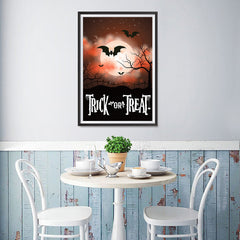 Ezposterprints - Moonligth - Red Halloween Poster - 12x18 ambiance display photo sample