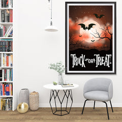 Ezposterprints - Moonligth - Red Halloween Poster - 32x48 ambiance display photo sample