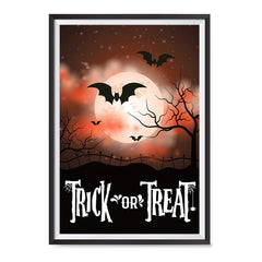 Ezposterprints - Moonligth - Red Halloween Poster ambiance display photo sample