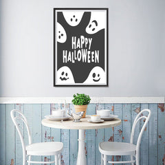 Ezposterprints - Ghosts - Black Halloween Poster - 12x18 ambiance display photo sample