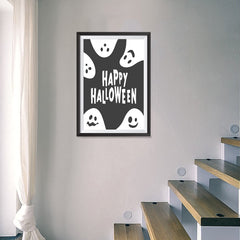 Ezposterprints - Ghosts - Black Halloween Poster - 16x24 ambiance display photo sample