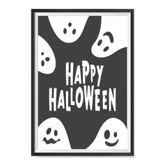 Ezposterprints - Ghosts - Black Halloween Poster ambiance display photo sample