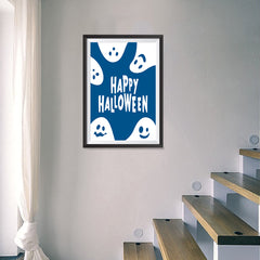 Ezposterprints - Ghosts - Blue Halloween Poster - 16x24 ambiance display photo sample