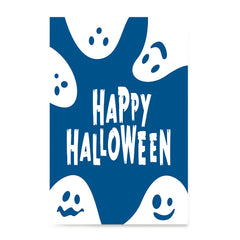 Ezposterprints - Ghosts - Blue Halloween Poster ambiance display photo sample