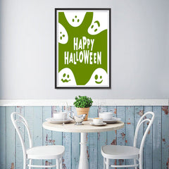 Ezposterprints - Ghosts - Green Halloween Poster - 12x18 ambiance display photo sample