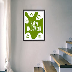 Ezposterprints - Ghosts - Green Halloween Poster - 16x24 ambiance display photo sample