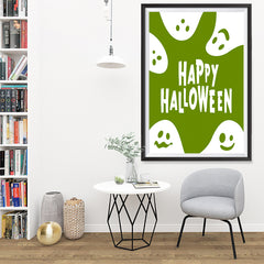 Ezposterprints - Ghosts - Green Halloween Poster - 32x48 ambiance display photo sample