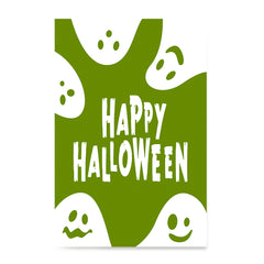 Ezposterprints - Ghosts - Green Halloween Poster ambiance display photo sample
