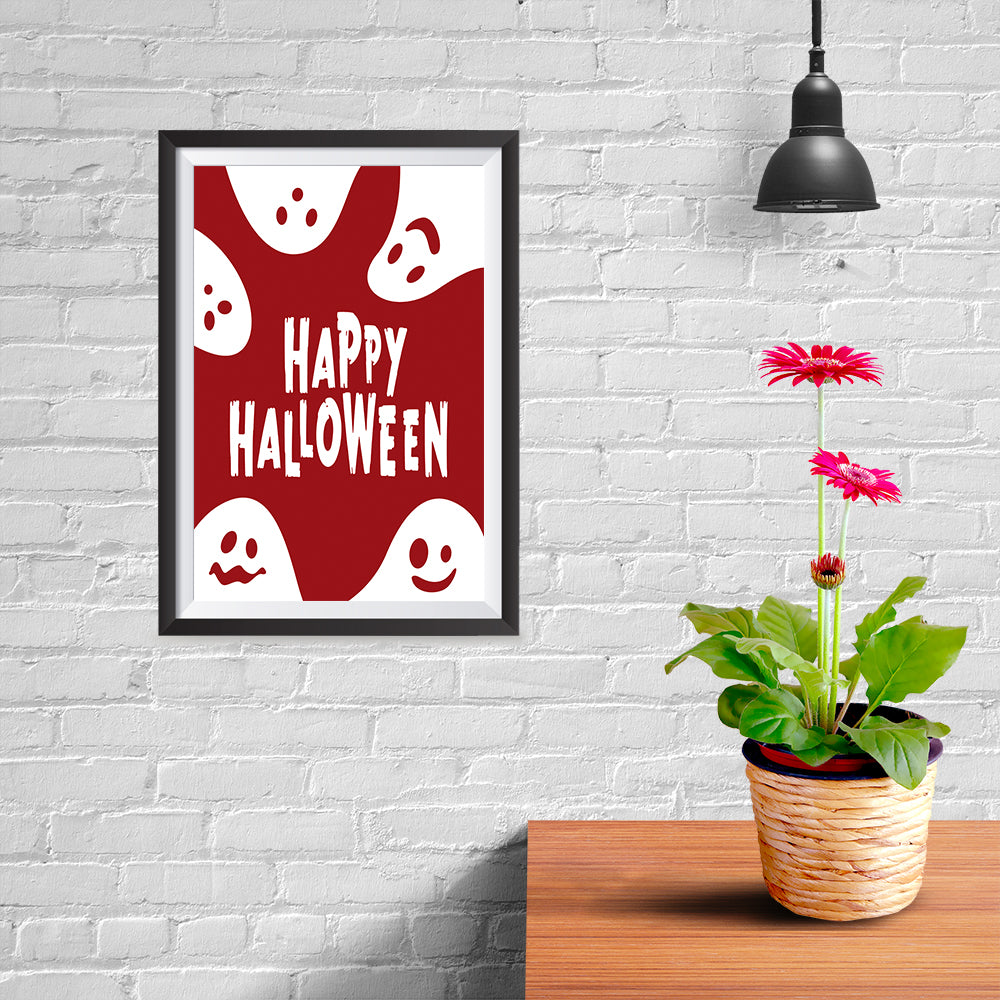 Ezposterprints - Ghosts - Red Halloween Poster - 08x12 ambiance display photo sample