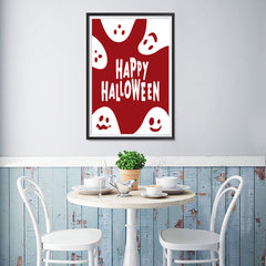 Ezposterprints - Ghosts - Red Halloween Poster - 12x18 ambiance display photo sample