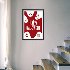 Ezposterprints - Ghosts - Red Halloween Poster - 16x24 ambiance display photo sample