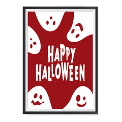 Ezposterprints - Ghosts - Red Halloween Poster ambiance display photo sample