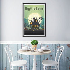 Ezposterprints - Green Moon Halloween Poster - 12x18 ambiance display photo sample