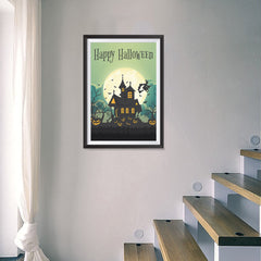 Ezposterprints - Green Moon Halloween Poster - 16x24 ambiance display photo sample