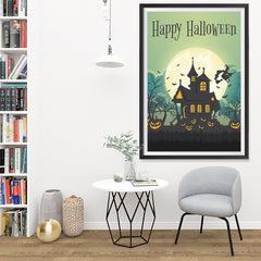 Ezposterprints - Green Moon Halloween Poster - 32x48 ambiance display photo sample