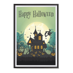 Ezposterprints - Green Moon Halloween Poster ambiance display photo sample