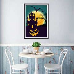 Ezposterprints - Smiling Pumpkin Halloween Poster - 12x18 ambiance display photo sample
