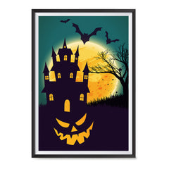 Ezposterprints - Smiling Pumpkin Halloween Poster ambiance display photo sample