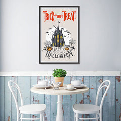 Ezposterprints - Spooky House Halloween Poster - 12x18 ambiance display photo sample