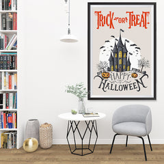 Ezposterprints - Spooky House Halloween Poster - 32x48 ambiance display photo sample