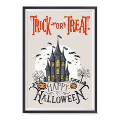 Ezposterprints - Spooky House Halloween Poster ambiance display photo sample
