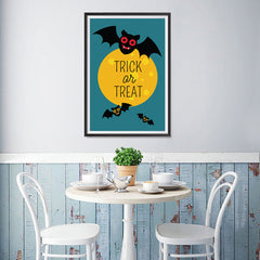 Ezposterprints - Trick Or Treat - Bats Halloween Poster - 12x18 ambiance display photo sample